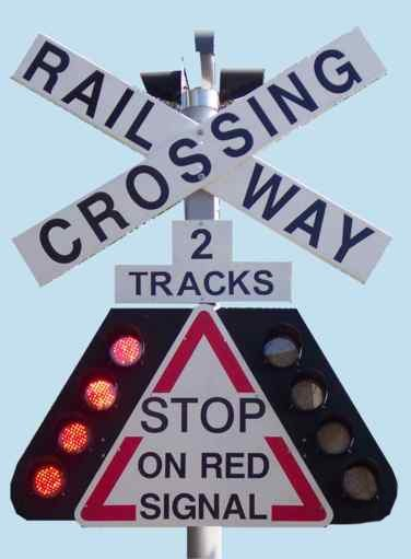 Warning lights on the Level Crossing Protection System from GNS Associates Pty Ltd